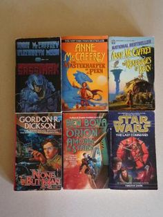 6 Science Fiction Paperback Books