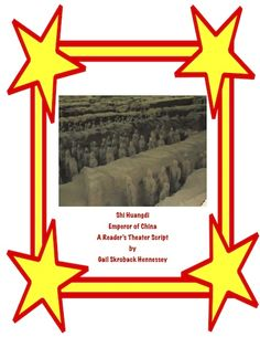 This Reader's Theater Script give students lots of information on the famous Emperor of China-Shi Huangdi.Great for reading for purpose and for developing reading fluency. The play includes a Did You Know section of fun facts, comprehension questions and a teacher's page with extension activities(including writing in the content area)and additional links. http://www.teacherspayteachers.com/Product/Shi-HuangdiEmperor-of-ChinaReaders-Theater-Script-1548776