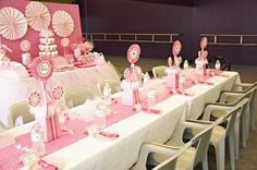 cute table centerpieces and table set up
