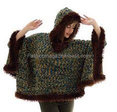 Download Free Pattern Details - Bohemian - Hooded Poncho (knit