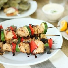 Brown Sugar Chili Lime Grilled Chicken & Vegetable Kebabs - Perfect Summer Party Food