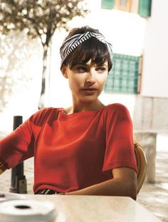 Les plus belles coupes courtes vues sur Pinterest Coupe cheveux courts accessoires bandeau