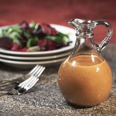 Balsalmic Vinaigrette (Epicurious)  Makes about 3/4 cup. INGREDIENTS:  3 tablespoons balsamic vinegar  1 tablespoon Dijon mustard  1 garlic clove, minced  1/2 cup olive oil  Salt and freshly ground pepper. PREP: In a small bowl, combine the vinegar, mustard, and garlic. Add the oil in a slow steady stream, whisking constantly. Season with salt and pepper to taste.    Read More http://www.epicurious.com/recipes/food/views/Balsamic-Vinaigrette-234241#ixzz2CPX3aQYM