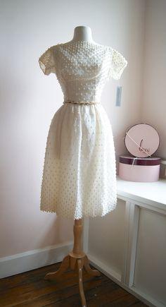Vintage Dress ~ Courthouse Wedding Dress at Xtabay Vintage.