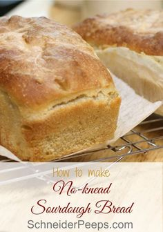 Why buy sourdough bread when it's so easy to make? Learn how to make sourdough bread the easy way with this no-knead recipe.