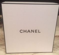 NEW CHANEL Signature Square Gift Box w/ Tissue Vanity Large | eBay