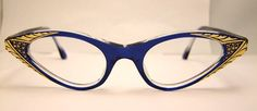 Rare 1950S  New old stock Cateye  Eyeglass frames by ifoundgallery, $110.00