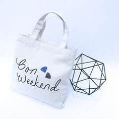 'Bon Weekend' from GAMENT Designs - 3D printed Diamonds on Tote Bag #Diamonds