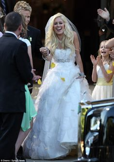Celebrity Wedding Dresses: Top 12 Most Noticeable Gowns - Heidi Montag  #wedding #celebrity