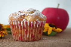 Sunflower - w wolnej chwili...: Jogurtowe babeczki z jabłkami