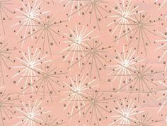 Pink Starburst wallpaper, someone else's estate sale find. I NEED this in my bathroom. ESTATE SALE GODS, WHY DO YOU FORSAKE ME?