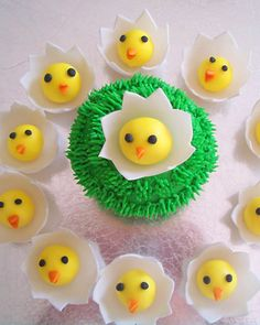 Happy Little Chicks Made of Fondant and Gum Paste