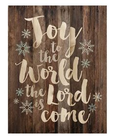 This 'Joy to the World' Wall Art by P. Graham Dunn is perfect! #zulilyfinds