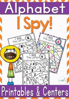 Alphabet I Spy Printables & Centers
