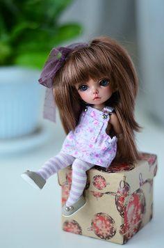 Пукифи. Фотосет в сиреневом / BJD - шарнирные куклы БЖД / Бэйбики. Куклы фото. Одежда для кукол