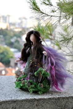Needle felted Waldorf Love Forest Fairy