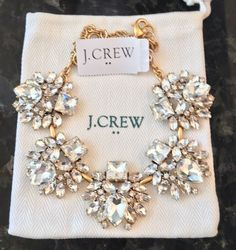 J.Crew Factory CRYSTAL SHAPES NECKLACE! Sold Out! New$54.50 With J Crew Bag! #JCrew