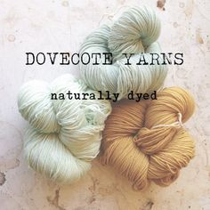 Pigeonroof Studios new yarn, naturally dyed