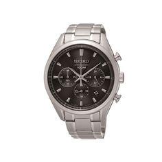 Ανδρικό ρολόι SEIKO SSB225P1 Automatic με μαύρο καντράν, χρονογράφος, ημερομηνία 24ωρη ένδειξη και ατσάλινο μπρασελέ   ΤΣΑΛΔΑΡΗΣ στο Χαλάνδρι #seiko #automatic #μαυρο #χρονογραφος #μπρασελε #tsaldaris Seiko Watches, Casio Watch, Omega Watch, Chronograph, Accessories, Jewelry