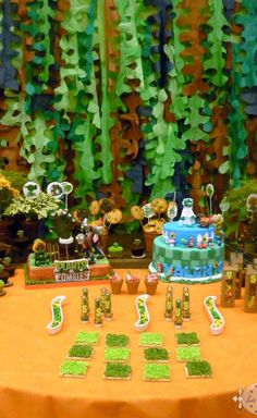 Plants vs. Zombies Birthday Party Ideas!  See more party planning ideas at CatchMyParty.com!