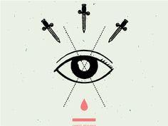 eye illustration graphic. reminds me of tarot