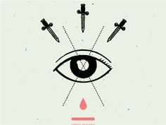 eye illustration graphic. reminds me of tarot