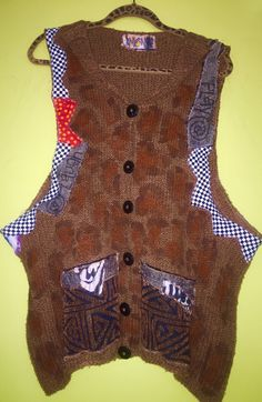 A personal favorite from my Etsy shop https://www.etsy.com/listing/278685758/hand-painted-cotton-sweater-vest-fits-m