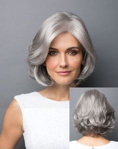 Gray Wigs Lace Hair Best Hair Oil For Preventing Grey HairEyebrow Color For Gray Hair Trending Hairstyles, Short Bob Hairstyles, Cool Hairstyles, Older Women Hairstyles, Haircuts, Medium Hair Styles, Curly Hair Styles, Best Human Hair Wigs, Best Hair Dye