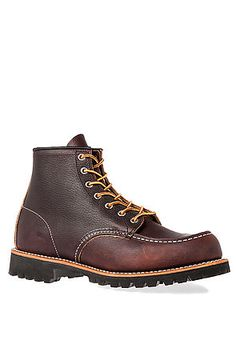 Red Wing Boot 6-Inch Moc Lug in Briar Oil Slick Leather Brown
