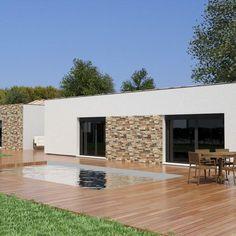 Modèle de maison Projet 10 - . Retrouvez tous les types de maison à vendre en France sur Faire Construire Sa Maison