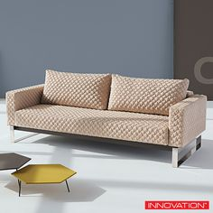Innovation Living Cassius Coz Sofa is a perfect seating and sleeping comfort. #InnovationLiving #sofa #sofabed #PerWeiss Available at loftmodern.com  http://www.loftmodern.com/products/innovation-living-cassius-coz-sofa-sale-20-off