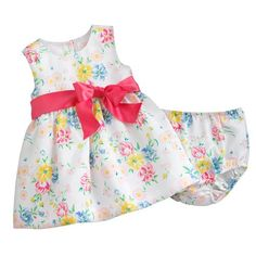Evacindy Baby Girl Chaps Floral Taffeta Dress 18M * You can get more details by clicking on the image.