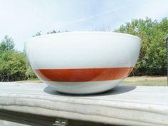 "Vintage Cathrineholm White with Orange Stripe Enamel Bowl 7 1 4"" | eBay"