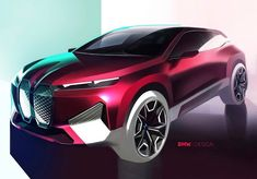Bmw Design, Car Design Sketch, Car Sketch, Transportation Technology, Transportation Design, Bmw Concept, Bmw I8, Car Drawings, Car Painting