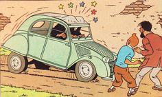 Tintin • the Thompson Twins • the castafiore emerald • this is the reason I have my own 'Citroen 2CV duck' because I was inspired by Herge's Adventures of Tintin • who is riawati