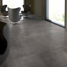 Cemento is a stunning new concrete-effect porcelain tile from our Italian Collection of porcelain tiles. Mould Design, Make Design, Porcelain Tile, Office Interiors, Room Colors, Cozy House, Home Living Room, Surface Design, Tile Floor