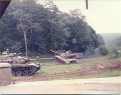 U.S. Army M60 Main Battle Tanks during maneuver exercises during the REFORGER (Return of Forces to Germany) exercises