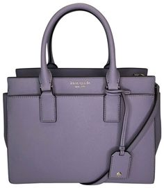 77b77d6b1f Kate Spade New York Cameron Street Flock Roses Small Hayden Icy Lavender  Leather Shoulder Bag. Get one of the hottest styles of the season!