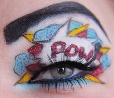 Pop Art Comic Book Make Up // http://jangsara.blogspot.com