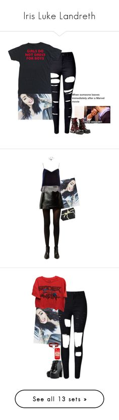 """Iris Luke Landreth"" by lifesucks-musichelps ❤ liked on Polyvore featuring Marvel, MICHAEL Michael Kors, River Island, Hot Topic, Amara, Kate Spade, New Look, Goodie Two Sleeves, J Brand and adidas"