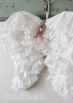 Coffee Filter Angel Wings {DIY}