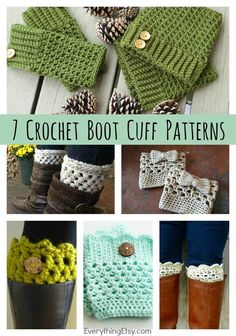 DIY Crochet Boot Cuff Patterns {7 Free Designs} (via Bloglovin.com ) ♡ Teresa Restegui http://www.pinterest.com/teretegui/ ♡