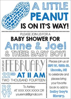 Baby Shower Invite by CWesterbuhr on Etsy, $10.00