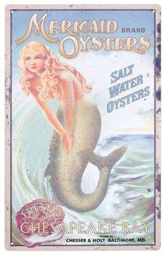 Mermaid Advertising Tin Sign at AllPosters.com