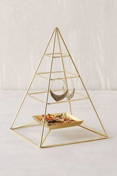 I like this >> Urban Outfitters - Magical Thinking Pyramid Jewelry Stand Jewelry Tree, Jewelry Stand, Jewelry Holder, Necklace Holder, Jewelry Ideas, Jewelry Accessories, Jewellery Storage, Jewellery Display, Gold Jewellery