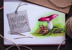 Mushroom Kingdom #illustration, #art, #instaart, #leuchtturm1917, #sketch, #copic, #copicart, #copicmarker, #mushroom, #forest