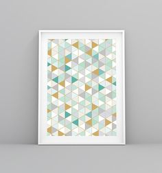 Geometric, Geometric Print, Modern Print, Pattern Print, Printable Art, Nordic, Prints, Wall Art, Triangles, Gold, Hipster, Boho