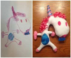 Custom toy from drawing by BlueButterbean on Etsy