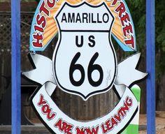 Historic Route 66 in Amarillo, TX