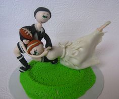 Funny wedding cake topper funny cake topper rugby by CuteToppers, $95.00